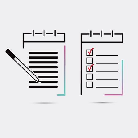 study icon: Set of notebooks, notepads Illustration