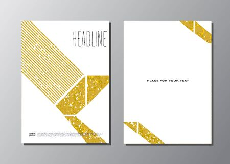 Abstract vector gold background template Illustration