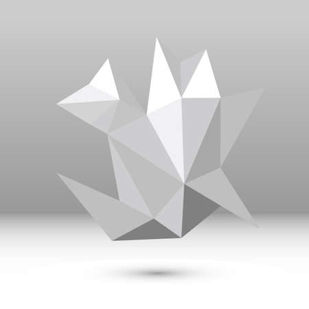 complexity: Abstract vector polygonal shape Illustration