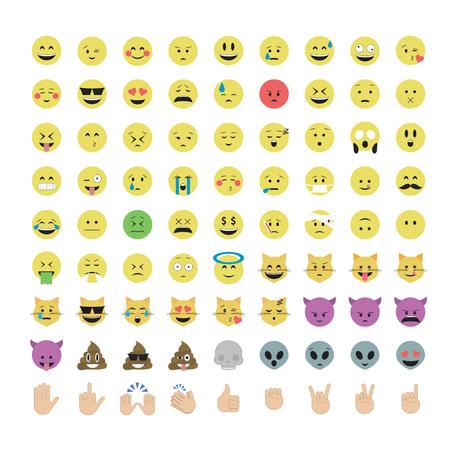 Emoji vector. Smile icon set. Emoticon icon web