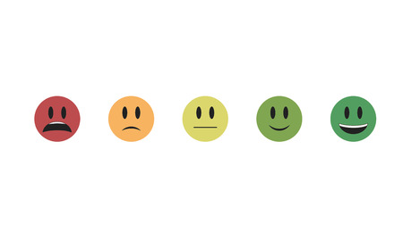 isolated on white background. Emoji vector. Smile icon collection. Emoticon icon web. Change of mood
