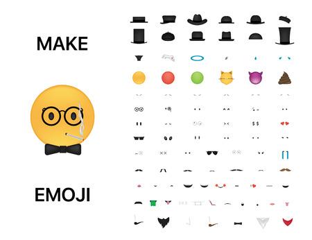 Emoticon vector. Emoji vector. Smile icon set. Emoticon icon web.