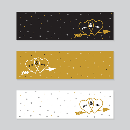 14 february: Vectror illustrations and typography elements.  Valentines day set. I love you  14 february. Illustration