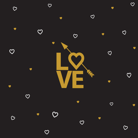 14: Vectror illustrations and typography elements.  Valentines day set. I love you  icon. 14 february.