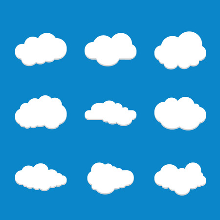 Cloud icon. Collection of  cloud vector icon.