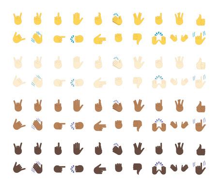 Vector isolated on white background. Gestures emoji vector. Smile icon set. Emoticon icon web. Stock Illustratie