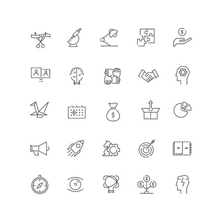 Line icons set. Start Up pack. Vector illustration.Web and Ui-UX Collection
