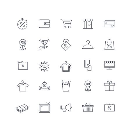 Line icons set. Sale pack. Vector illustration.Web and Ui-UX Collection