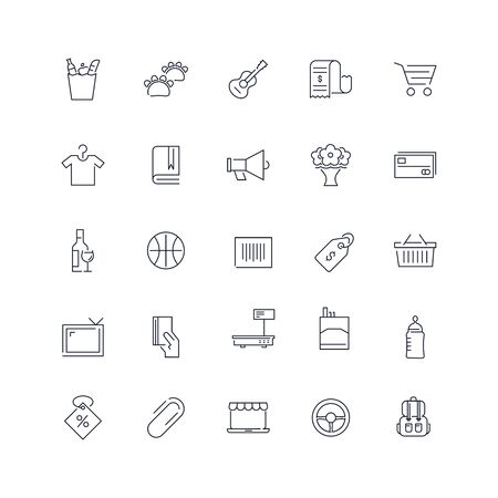 Line icons set. Supermarket pack. Vector illustration.Web and Ui-UX Collection  Ilustrace