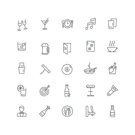 Line icons set. Bar pack. Vector illustration Ilustrace