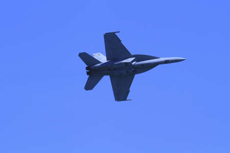 An F A-18 Super Hornet fighter at the 2011 Chicago Air and Water Show Editorial