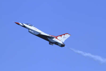 US Air Force F-16s flying at the Chicago Air Show 2011 Stock Photo - 14628475