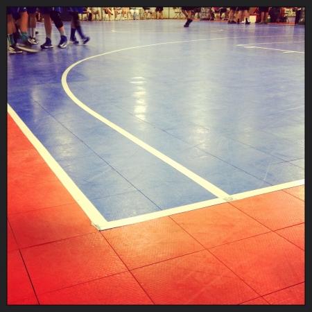 terrain de basket: Un terrain de basket