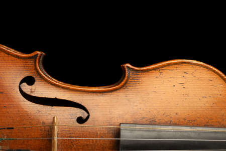 fiddles: Close up of a violin body