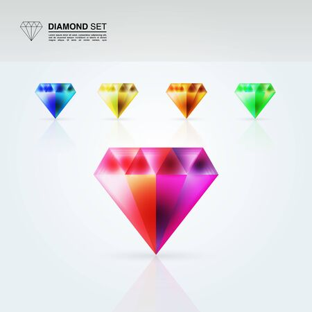 Diamond set Stock Vector - 13640572
