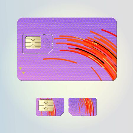 Sim card design Stock Vector - 13640575