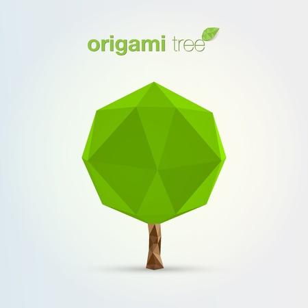 Origami tree Stock Vector - 13640567