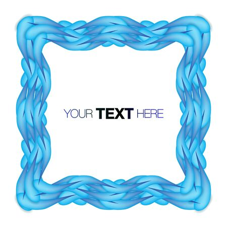 Blue frame Stock Vector - 13841581