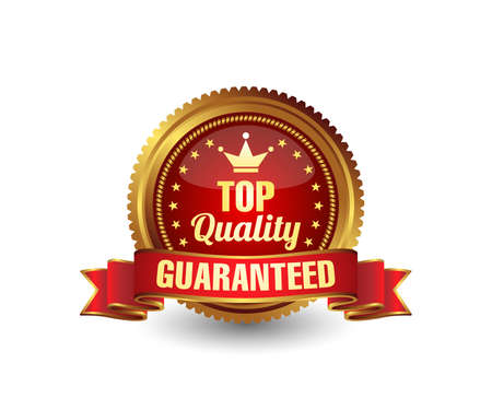 Top quality crowned royal badge for customer satisfaction.
