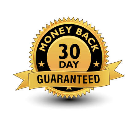 Golden 30 day guaranteed illustrated seal.