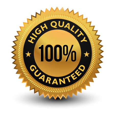 100% high quality Guaranteed Badge - banner, sticker, tag, icon, stamp, label. Vecteurs