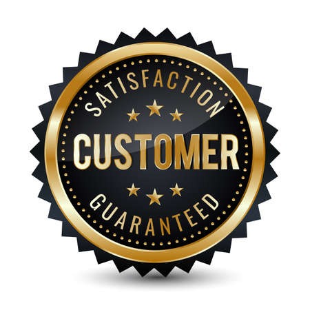 Customer satisfaction guaranteed Badge - banner, sticker, tag, icon, stamp, label.