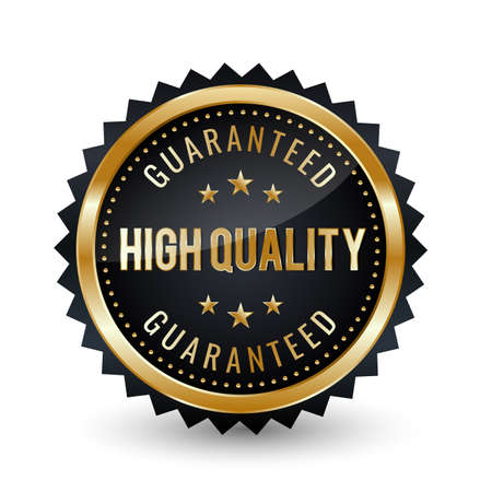 High-quality Guaranteed Badge - banner, sticker, tag, icon, stamp, label.