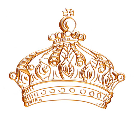 Golden Crown isolated on White Background Фото со стока