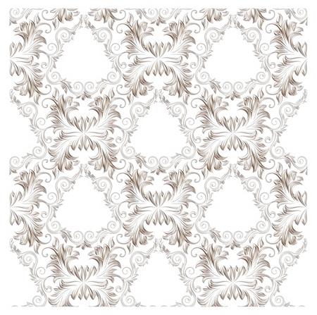 3d Ornament elements, vintage silver floral designs photo
