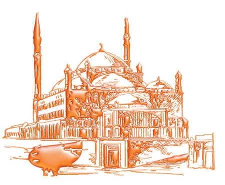 ramzaan: 3D illustration of mosque