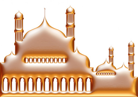 namaz: 3D illustration of mosque