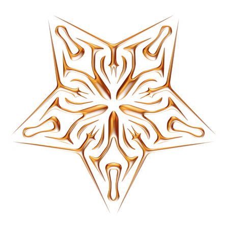 Ornamental Star on white background. photo