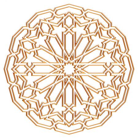 Arabe ronde design de style oriental or. Banque d'images - 40493809