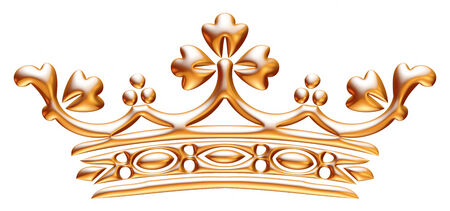 Gouden kroon geïsoleerd op witte achtergrond