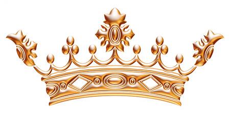 Couronne en or isolé sur fond blanc Banque d'images - 33855102
