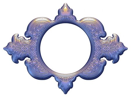 victorian fence: 3D Graphic ornament for doors and windows.