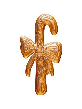 Christmas Gold rendu en 3D sur fond blanc. Banque d'images - 60150494