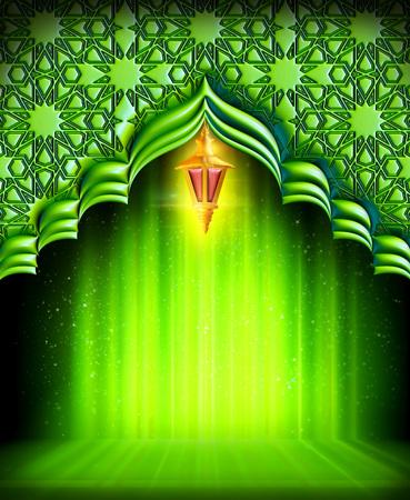 Une carte de voeux template- 'Ramadan Kareem' Banque d'images - 55754817