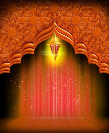 Une carte de voeux template- 'Ramadan Kareem' Banque d'images - 55754825