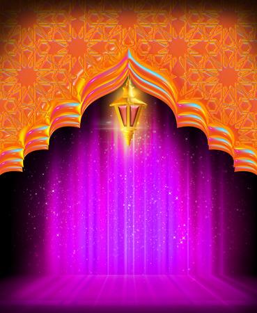 Une carte de voeux template- 'Ramadan Kareem' Banque d'images - 55754826