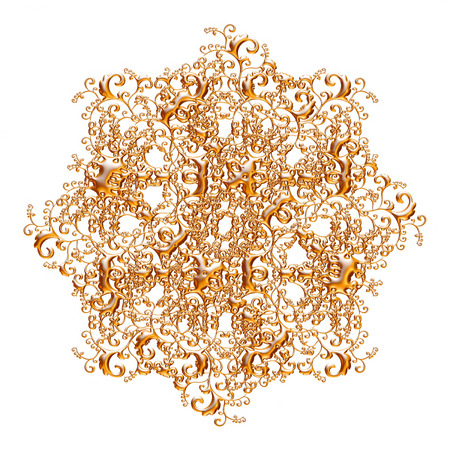 Jeu 3D d'un ornement d'or antique sur un fond blanc Banque d'images - 55754873