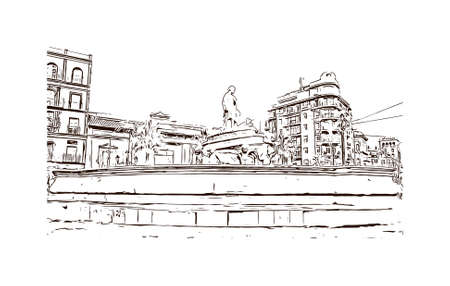 """Building view with landmark of Sevilla"""" redirects here. For the association football club, see Sevilla FC. Hand drawn sketch illustration in vector."""