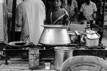 Oude India straatvoedselfoto's