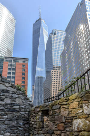 Contrast of NYC at the World Trade Center, US