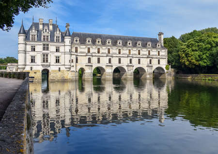 Chateau de Chenonceau on the Cher River - France, the Loire Valley Editorial