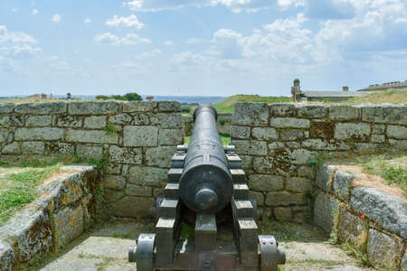 Cannon in an old fortress, Almeida Portugal