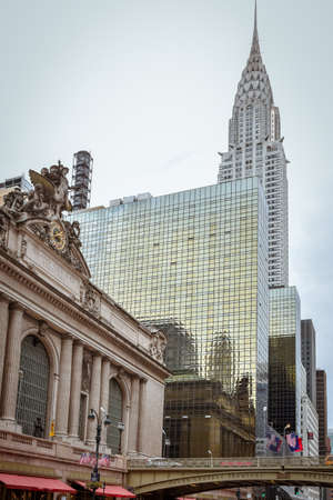 Grand Central Terminal Station Facade and buildings. NYC, USA