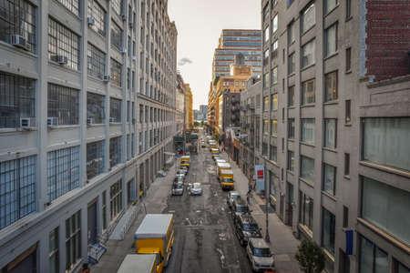 Industrial warehouse street. Chelsea, NYC.