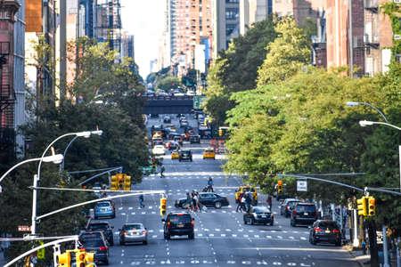 Traffic on 10th ave. NYC, USA 版權商用圖片