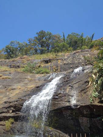 munnar: Waterfall near Munnar, Kerala                           Stock Photo